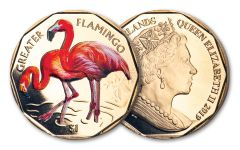 2019 British Virgin Islands $1 8-gm Virenium® Greater Flamingo Proof