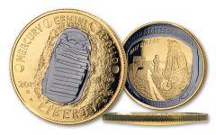 2019 Apollo 11 Clad Commemorative Half Dollar Proof w/24K Gold & Black Ruthenium