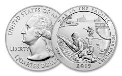 2019 5-oz Silver America the Beautiful – War in the Pacific National Historical Park Specimen
