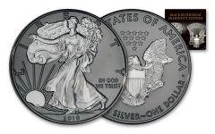2019 $1 1-oz Silver Eagle Black Ruthenium Silhouette Edition BU