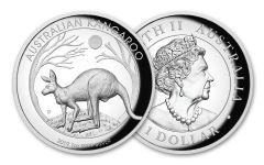 2019 Australia $1 1-oz Silver Kangaroo High Relief Proof