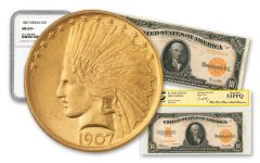 1907 $10 Gold Indian & 1922 $10 Gold Certificate Fort Knox