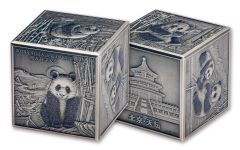 2019 China 1-Kilo Silver 150th Anniversary Panda Cube