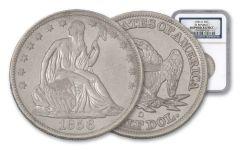 1856-O Half Dollar Seated Liberty SS Republic NGC Shipwreck Effect
