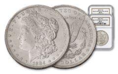 1884-O & 1885-O $1 Morgan Silver Dollar Great Montana Collection NGC MS65 2-pc Set