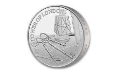 2019 Great Britain £5 Silver Tower of London Ceremony of the Keys Piedfort Proof