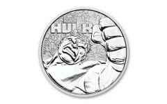 2019 Tuvalu $1 Incredible Hulk 1-oz Silver BU