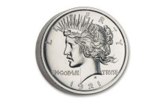 2-oz Silver High Relief Peace Dollar Tribute BU