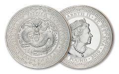 2019 Saint Helena 1-oz Silver Chinese Trade Dollar BU