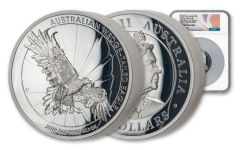 2019 Australia $8 5-oz Silver Wedge-Tailed Eagle High Relief Proof NGC PF69UC First Releases w/Mercanti Signature