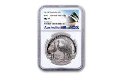 2019 Australia $1 1-oz Silver Emu