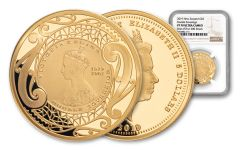 2019 New Zealand $5 Gold Double Sovereign NGC PF70UC First Struck