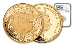 2019 New Zealand $1 Gold Half Sovereign NGC PF70UC First Struck