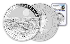 2019 Australia $1 1-oz Silver Super Pit Coin NGC MS69 w/Opera House Label