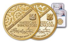 2018-S $1 American Innovation Proof & Reverse Proof NGC Gem Proof First Releases 2-Pc Set