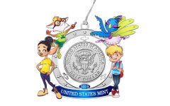 2019 50 Cents Kennedy Half Dollar U.S. Mint Mighty Minters Ornament