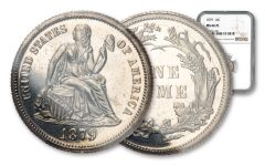 1879-P 10 CENTS SEATED LIBERTY NGC MS66 PL