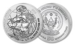 2019 Rwanda 1-oz Silver Nautical Ounce Series – 500th Anniversary Victoria Gem BU