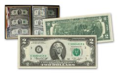 1976 Bicentennial $2 Bill Federal Reserve District Series Complete 12-pc Set