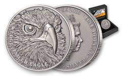 2019 Niue $1 1-oz Silver Wedge Tailed Eagle Ultra High Relief Antiqued Proof