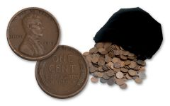 1910–1929 Three-Pound Bag (360 Coins) Lincoln Wheat-Back Cents