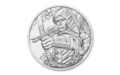 2019 Austria €1.5 1-oz Silver 825th Anniversary of Austria Mint – Robin Hood BU