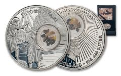 NIUE 2020 $2 SLVER FOOTSTEPS OF JESUS JORDAN PROOF
