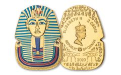 2020 Ghana 1-oz CuNi Legacy of Egypt Tutankhamun Gilded Ultra High Relief Coin