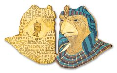 2020 Ghana 1-oz CuNi Legacy of Egypt Horus Gilded Ultra High Relief Coin
