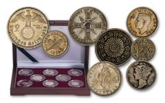 8PC WORLD WAR II SILVER COIN COLLECTION