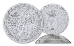 2019 Samoa $2 40-gm Silver 500th Anniversary of the First Circumnavigation of the Earth Dome Proof