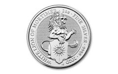 2020 Great Britain £5 2-oz Silver Queen's Beasts White Lion of Mortimer BU