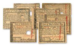 $1-$20 1780 MASSACHUSETTS COLONIAL BALDWIN SET