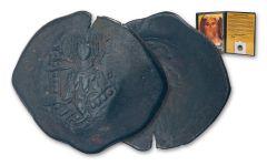 BYZANTINE CHRIST COIN - ANON FOLLES JESUS PORTRAIT