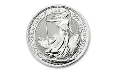 2020 Great Britain £2 1-oz Silver Britannia Brilliant Uncirculated