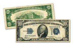 1934 $10 Silver Certificate VF