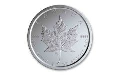 2020-W Canada $5 1-oz Silver Burnished Maple Leaf BU