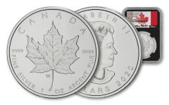 2020-W Canada $5 1-oz Silver Burnished Maple Leaf NGC MS70 First Day of Issue w/Black Core & Taylor Signature