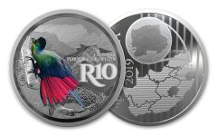 SA 2019 1OZ SILVER COLORED TURACO PROOF