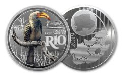 SA 2019 1OZ SILVER COLORED HORNBILL PROOF