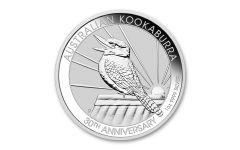2020 Australia $1 1-oz Silver Kookaburra BU