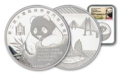 2019 China 2-oz Silver Macau Numismatic Society Expo Show Panda PF70UC First Day of Issue