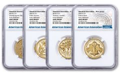 2019-S $1 American Innovation 4-pc Proof Set NGC Gem Proof Early Releases w/Innovation Label