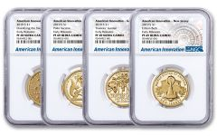 2019-S $1 American Innovation 4-pc Proof Set NGC PF69UC Early Releases w/Innovation Label