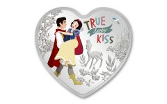 2020 Niue $2 1-oz Silver Snow White Heart-Shaped Colorized Proof