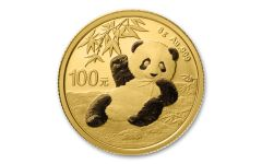 2020 China 8-gm Gold Panda Shenzhen Mint BU