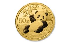 2020 China 3-gm Gold Panda Shenzhen Mint BU