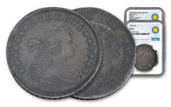 2PC 1798-1799 $1 DRAPED BUST NGC VF SI COIN CLSSCS