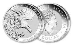 2020 Australia $1 1-oz Silver Wedge-Tailed Eagle BU
