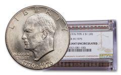 1976-P Eisenhower Dollar Type II Struck in 1975 NGC BU 20-pc Roll